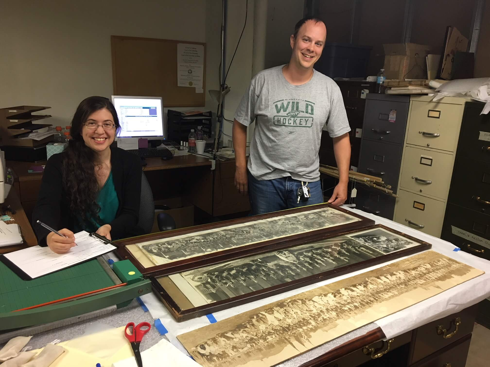 Kevin & Valerie work on inventory